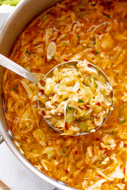 sopa de col de huevo