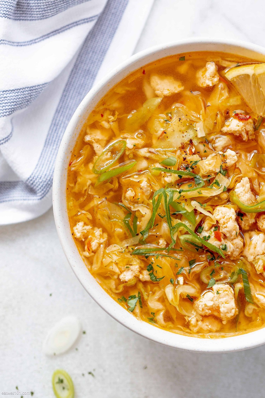 Receta Saludable de Sopa de Rollitos de Huevo
