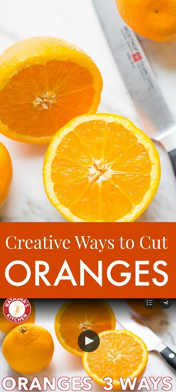 Assista a este vídeo sobre como cortar uma laranja de três maneiras criativas. As laranjas são perfeitas para decorar bolos, criando belos pratos de frutas e saladas! O | natashaskitchen.com