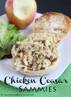 Chicken Caesar Sammies