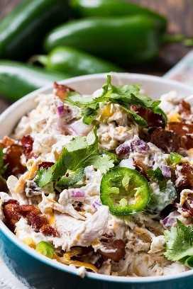 Jalapeño Popper Chicken Salad