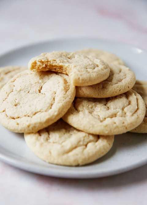 galletas de azúcar sin gluten en un plato