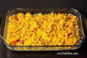 Salsa de taco baja en carbohidratos con carne molida