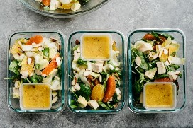 Orange Chicken Salad Meal Preparation Dishes