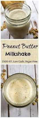 Batido de mantequilla de maní (bajo en carbohidratos, bajo en grasas, sin azúcar, THM-FP) #trimhealthymama #thm #thmpf #peanutbutter #milkshake #sugarfree #lowcarb #lowfat
