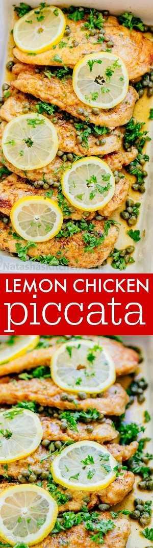 Piccata de pollo fácil con video tutorial. Una de las recetas de piccata de pollo más fáciles y sabrosas. ¡Harás esta cena de pollo una y otra vez! El | natashaskitchen.com