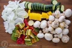 Espetos de vegetais marroquinos