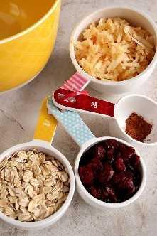 magdalenas de manzana 1 Receta de magdalenas de manzana y avena y arándanos