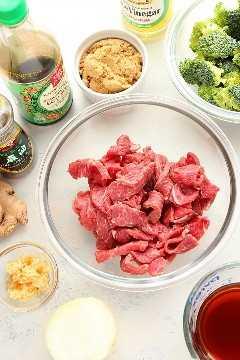 Instant Pot beef y brócoli ingredientes Instant Pot Beef y brócoli