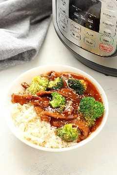 Instant Pot Beef y brócoli C Instant Pot Beef y brócoli