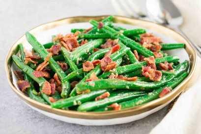 bacon alho feijão verde