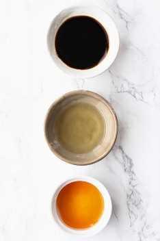 ingredientes para la salsa japonesa dumpling - gyoza