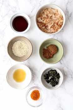 ingredientes para furikake