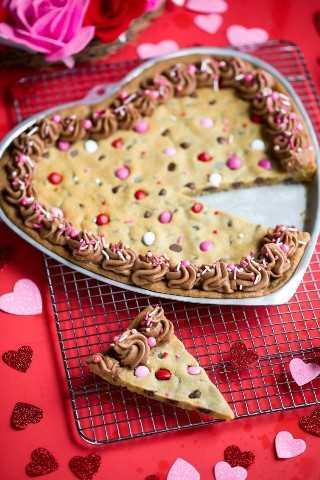 Corazón de pastel de galleta de San Valentín