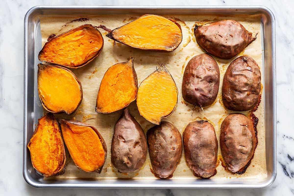Caçarola de batata doce tradicional assar batatas doces