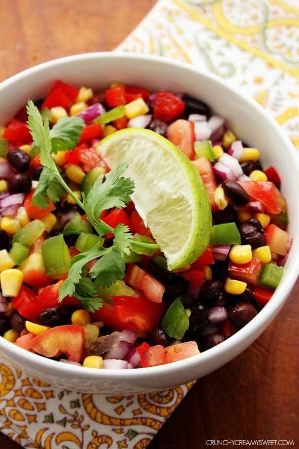 Receita de salada de feijão preto e milho crunchycreamysweet.com Salada de feijão preto e milho