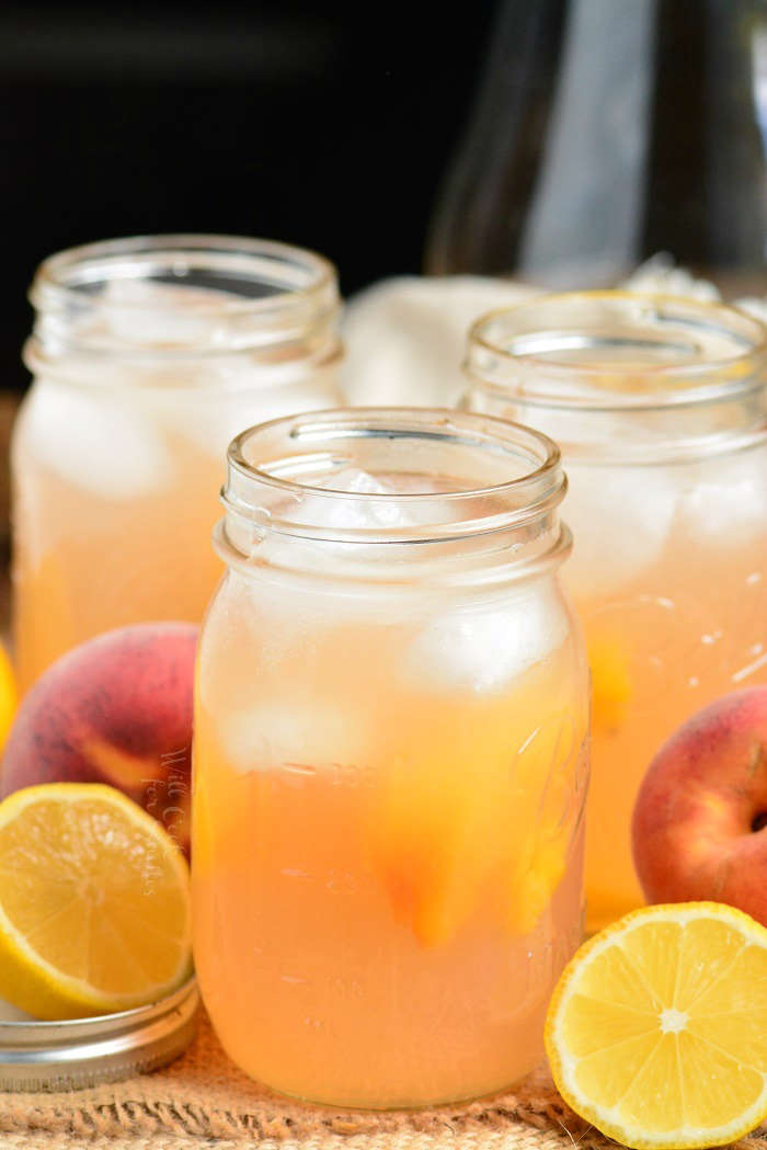 fácil limonada de pêssego