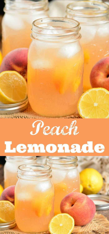 Colagem de limonada de pêssego