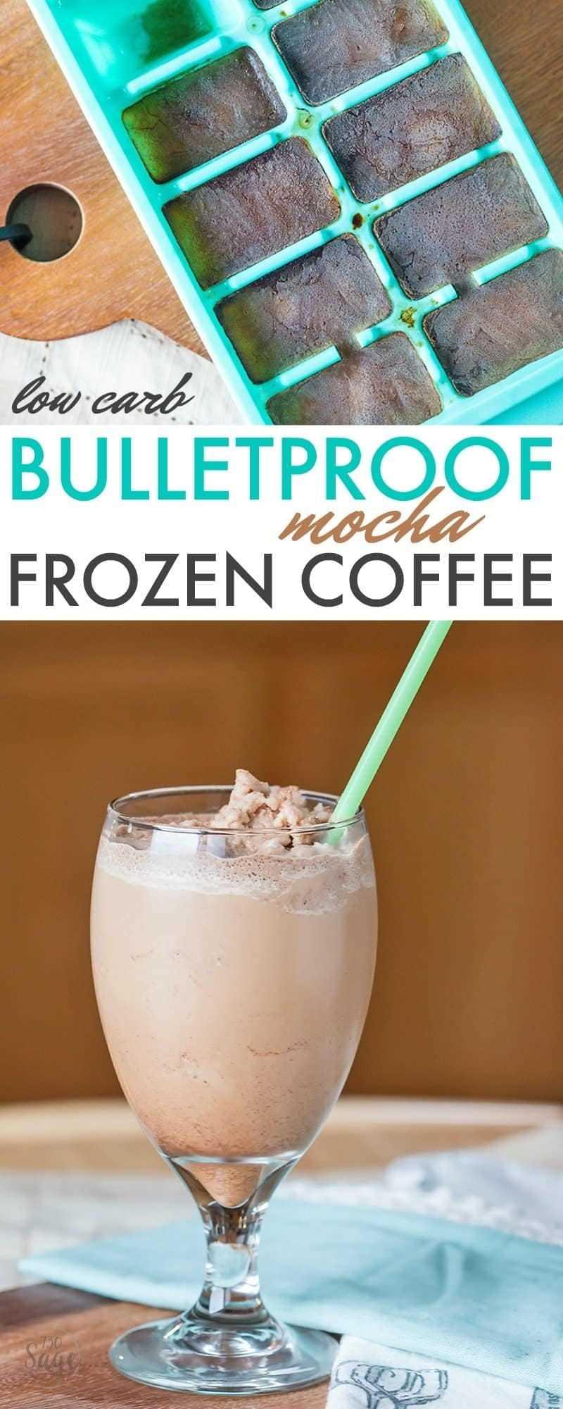 Esta receita de café mocha congelado à prova de balas é perfeita para dietas com pouco carboidrato ou ceto. Também desfrute de sorvete em vez de congelado. Fácil e delicioso!