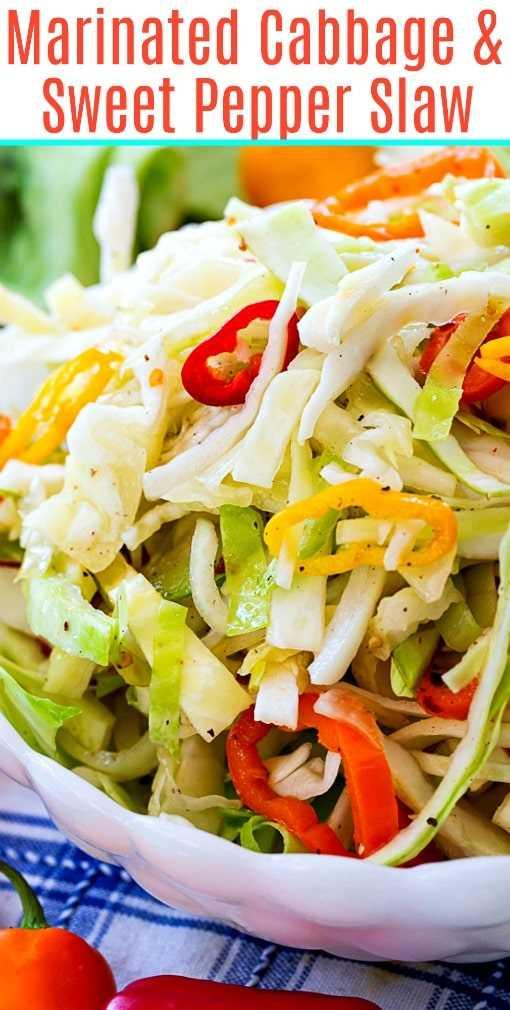 Salada de repolho marinado