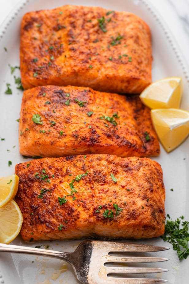 Air Fryer Salmon Receta Fácil Y Saludable