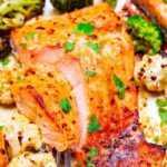 Hoja de 10 minutos Pan Dijon Limón Salmón y Verduras