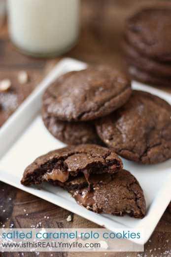 Caramelo salado, caramelo, galletas Rolo
