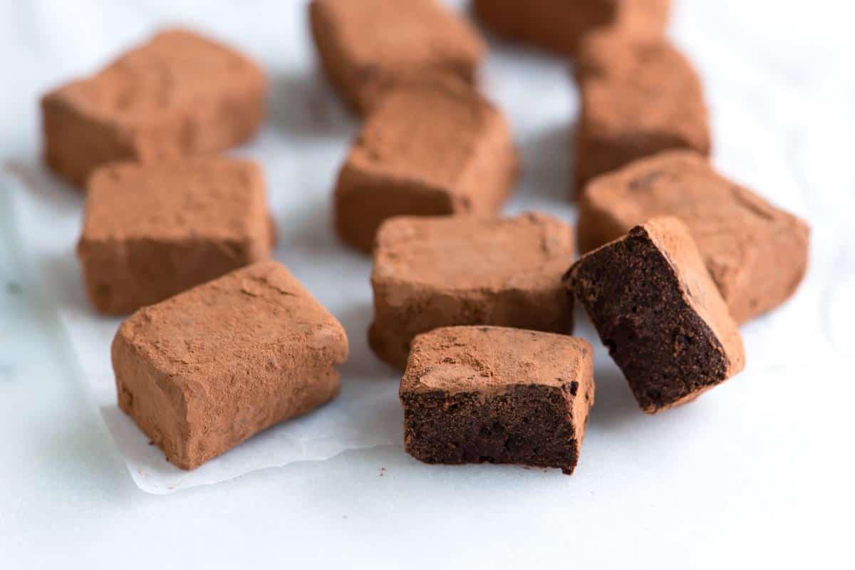 Video de recetas de trufas de chocolate negro
