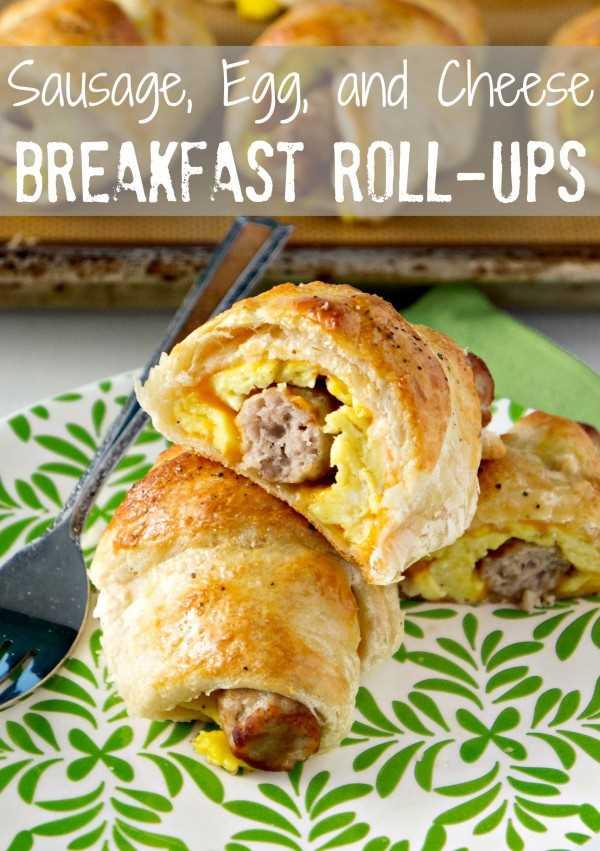 Rollitos de Salchicha Huevo Queso Desayuno