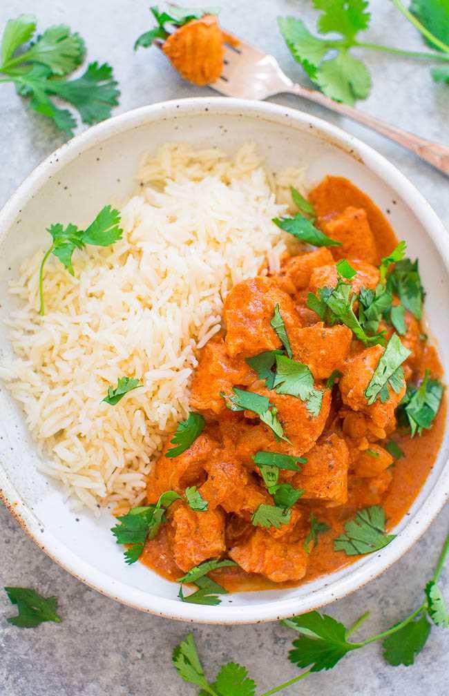 Crock-Pot® Olla a presión Pollo Tikka Masala - ¡Haz de este favorito indio en casa en 30 minutos! ¡El jugoso pollo está cubierto con una salsa cremosa ultra SABROSA! ¡No necesitas ir a un restaurante porque esta FÁCIL receta sabe MEJOR!