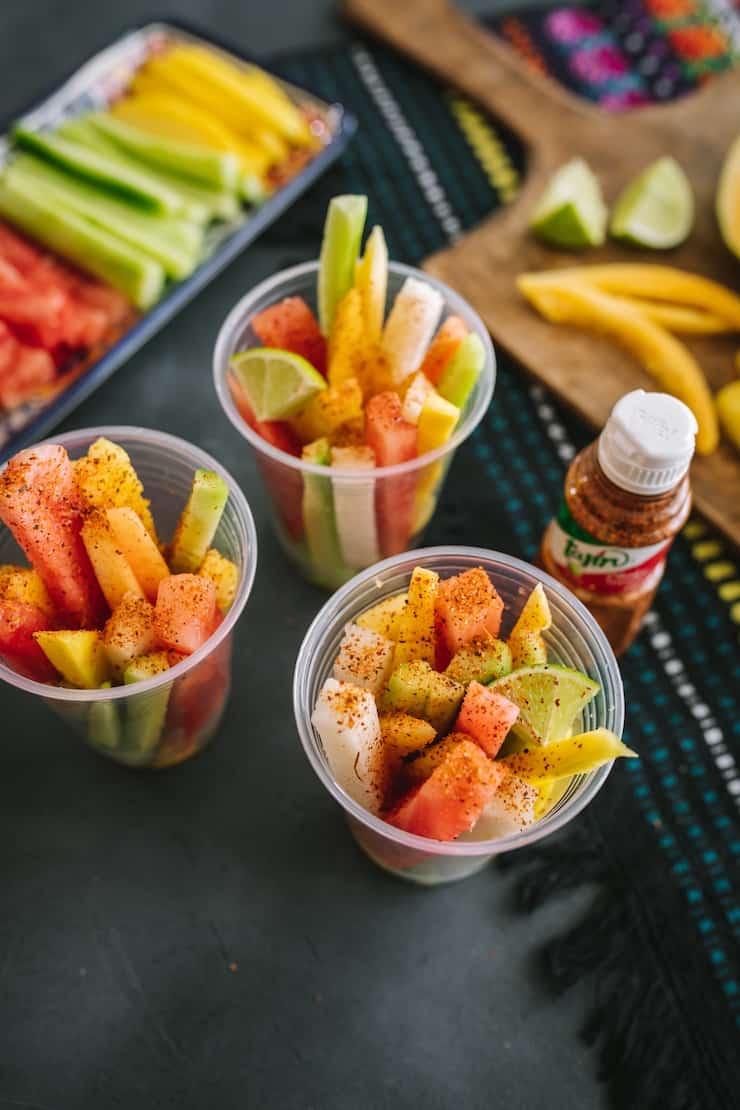 hacer tazas de frutas mexicanas en casa