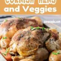 Jantar completo de frango e legumes da Cornualha