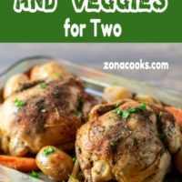 Galinhas e legumes da Cornualha Crockpot Jantar para dois