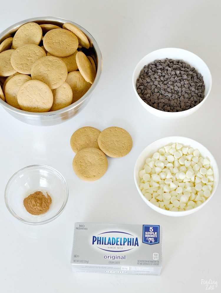 Ingredientes para fazer trufas de gengibre