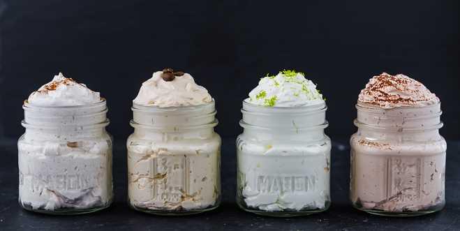 imagen de cuatro sabores de crema batida