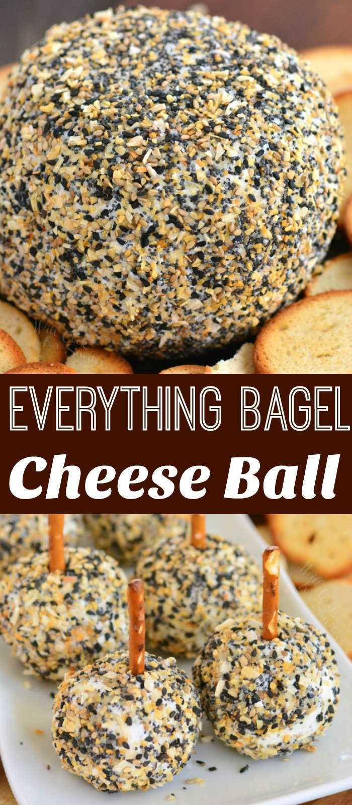 bola de queso y mini collage de bolas de queso
