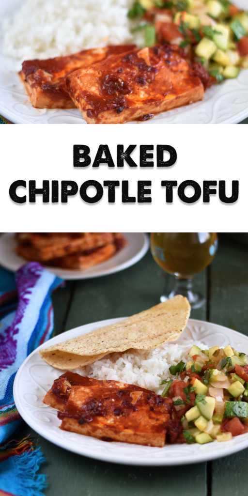 Olhando para apimentar o tofu básico? Pimentas Chipotle adicionar um chute picante para tofu simples. O tofu de chipotle cozido é perfeito para um prato principal, usado como recheio de taco ou em um sanduíche! #vegan #tofu #recipes #Mexican #VeganMexican #vegetarian