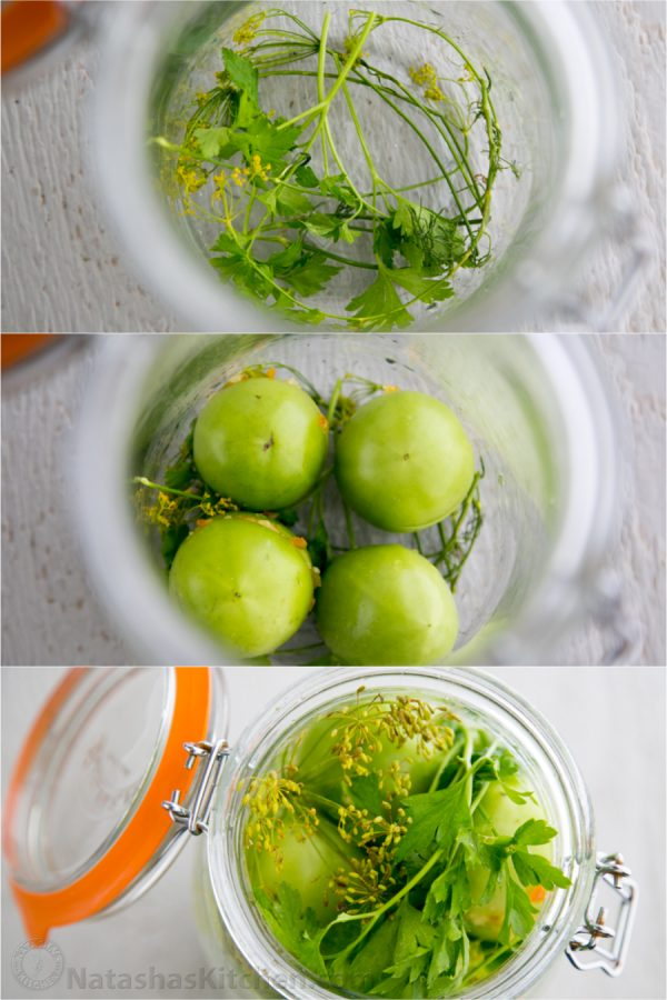 tomate verde marinado