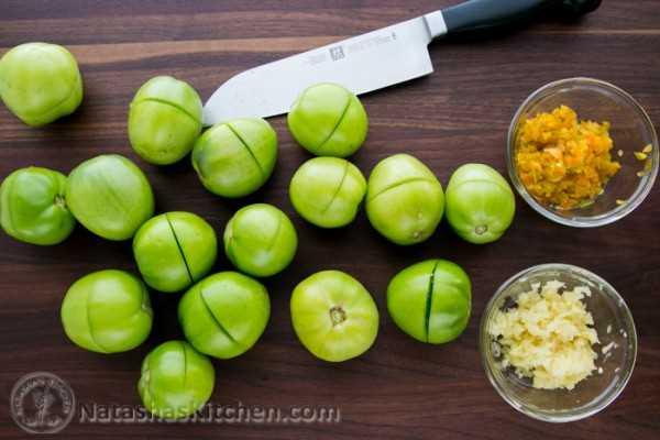 Tomates verdes em conserva-2