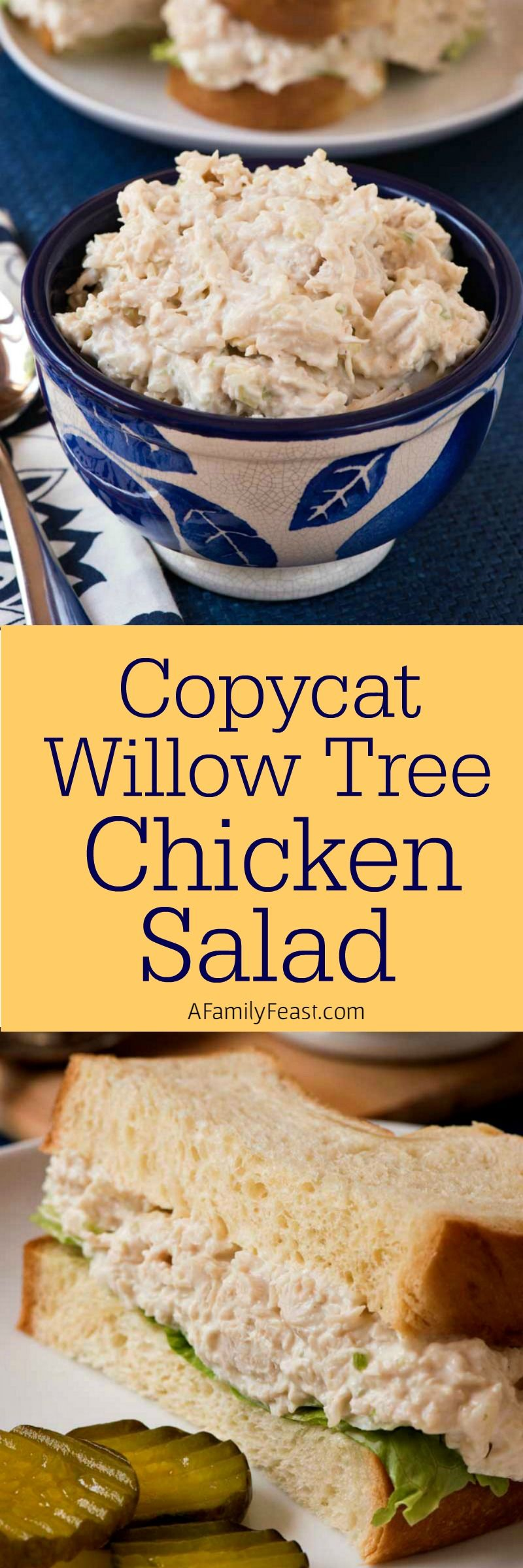 Copycat Willow Tree Chicken Salad - Nuestro intento de recrear la famosa ensalada de pollo Willow Tree - ¡y creo que estamos muy cerca!