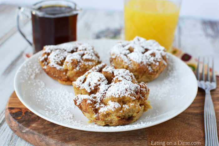 Do you love baked French toast? You'll love the easy recipe for French Toast Muffins. Get all the flavors of French toast with easy French toast muffins.