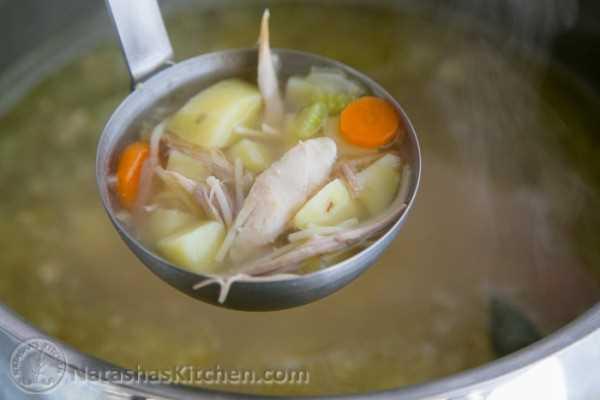 Sopa de fideos de pavo-14