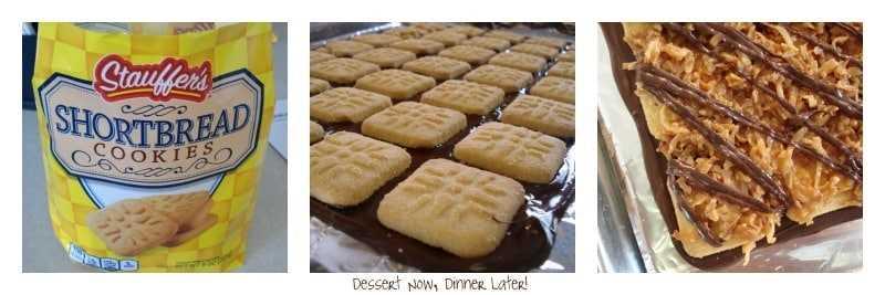 Samoa Bark está hecha con galletas de mantequilla, caramelo y coco, ¡con chocolate en la parte inferior y superior!