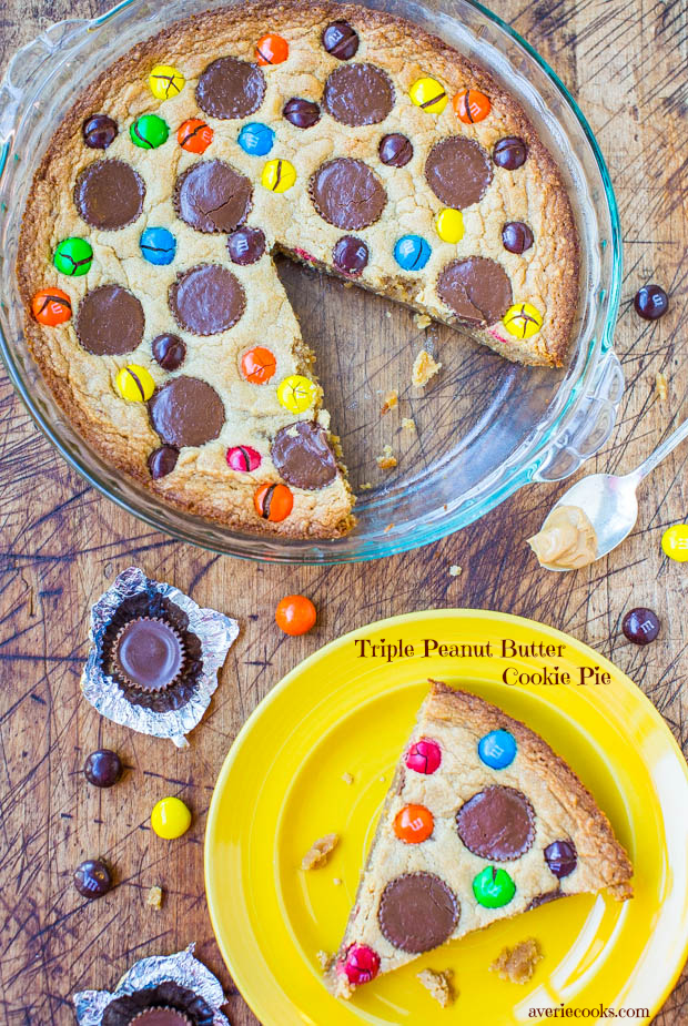 Triple Peanut Butter Cookie Cake: This quick and easy cookie cake has worked with peanut butter in 3 different ways. If you are a lover of peanut butter, this cake is for you!