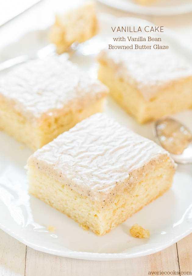 Vanilla cake from scratch