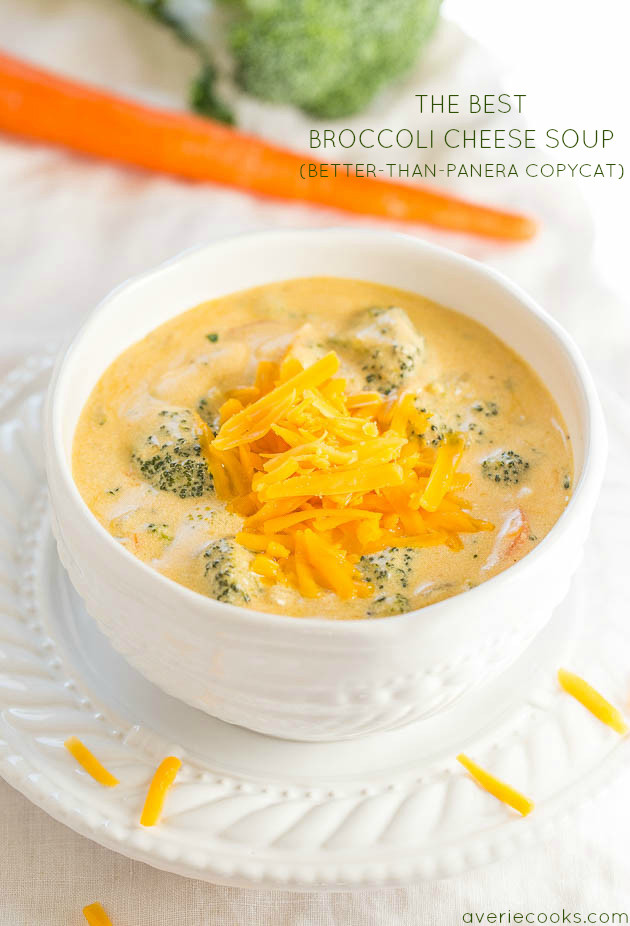 Best Broccoli Cheese Soup (Better than Panera Copycat) - Make the best soup of your life at home in 1 hour! Beyond the incredible words !!