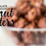 Racimos de cacahuate y caramelo de chocolate