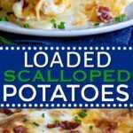 collage de receta de papas gratinadas