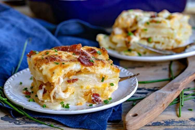 recetas de papas gratinadas con queso y tocino