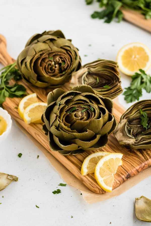 alcachofas instantáneas con limón